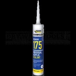 Everbuild Everflex 175 Universal Acrylic Sealant White 300ml - 175WE