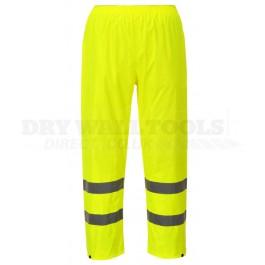 Portwest Hi-Vis Rain Trousers Yellow (L,XL) - (H441)