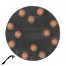 "Refina 30 Grit 9"" Diamond Button Disc, Velcro, For Terrazzo & Stone Polishing - 341085P1"