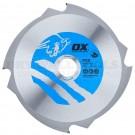 OX Fibre Cement Cutting Blade 4 Teeth 190mm X 30mm - PCD-190/30
