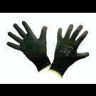 PTI Black Polyurethane Knitted Gloves (12 Pack)