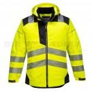Portwest PW3 Hi-Vis Rain Jacket Yellow/Black (Medium) - (T400)