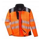 Portwest PW3 Hi-Vis Softshell Jacket Orange/Black (Large) - (T402)