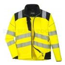 Portwest PW3 Hi-Vis Softshell Jacket Yellow/Black (Medium) - (T402)