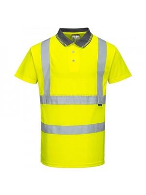 Portwest Hi-Vis Short Sleeve Polo Yellow XXL - S477