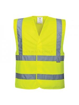 Portwest Hi-Vis Two Band & Brace Vest Yellow XXL - C470