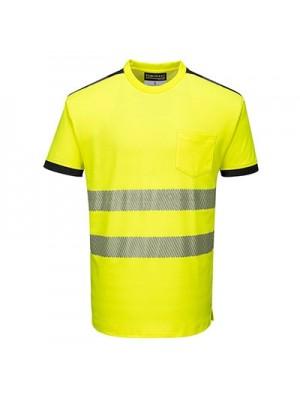 Portwest PW3 Hi-Vis T-Shirt S/S Yellow/Black XXL - T181