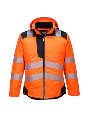 Portwest PW3 Hi-Vis Winter Jacket Orange/Black XXXL - T400