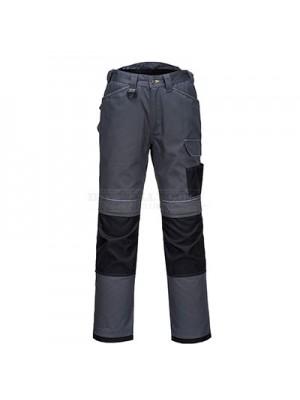 "Portwest PW3 Work Trousers Zoom Grey/Black 40"" Regular - T601"
