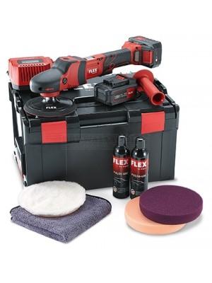 Flex Cordless Rotary Polisher 18V with Polishing Kit PE 150 18.0-EC / 5.0 P-Set 465.119