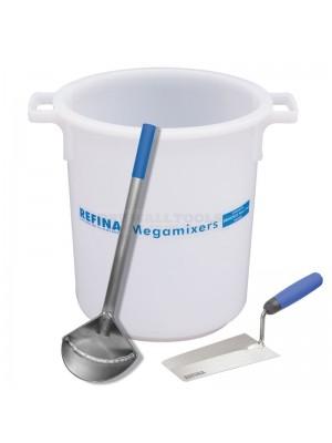 """Refina 50 Ltr Mixing Tub + Mac Bucket Scoop + 8"""" Bucket Trowel - SP2010"""