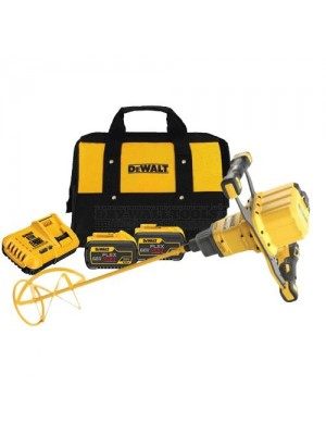Dewalt DCD240X2 54V XR Flexvolt Brushless Paddle Mixer (2 x 9.0Ah Batteries) with Carry Case