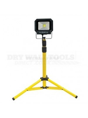 110v Faithfull Tools 20w LED Flood Light Single Tripod (LHL-LEDS)