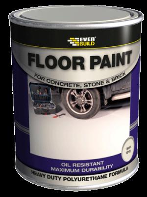 Everbuild Floor Paint Matt Grey 5 Litre - FLOORGYNEW