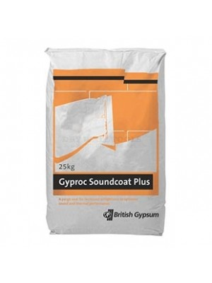 British Gypsum Gyproc Soundcoat Plus Plaster 25kg - 10493/0