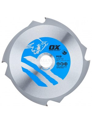 OX Fibre Cement Cutting Blade 4 Teeth 216mm X 30mm - PCD-216/30
