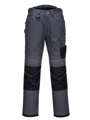 "Portwest PW3 Urban Work Trousers Grey/Black (Size 34"") - (T601)"