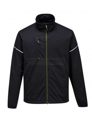 Portwest PW3 Flex Shell jacket Black (Extra Large) - (T620)