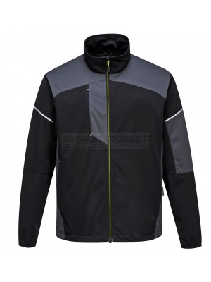 Portwest PW3 Flex Shell Jacket Black/Grey (Large) - (T620)