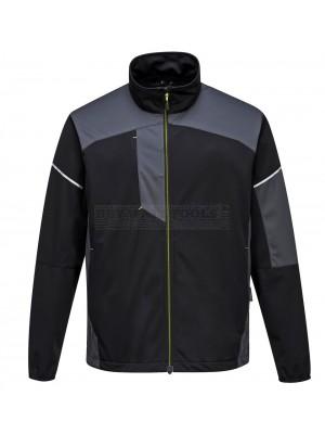 Portwest PW3 Flex Shell Jacket Black/Grey (Large) - (T620)