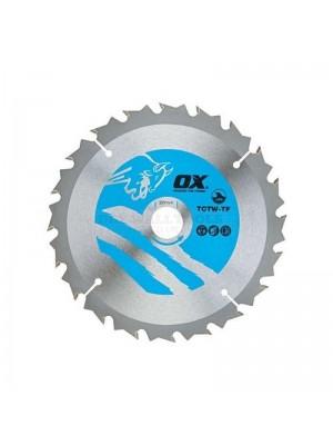 OX  Wood Cutting Thin Circular Saw Blade 160/20mm 40 Teeth ATB - TCTW-TF-1602040