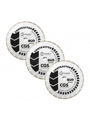 OX CGS general purpose diamond cutting disc blade triple pack 115mm x 22 bore - CGS-115/22