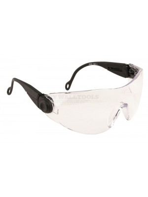 Portwest Clear Contoured Safety Spectacle - PW31
