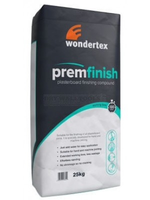 Wondertex Premfinish - Plasterboard Finishing Compound 25kg