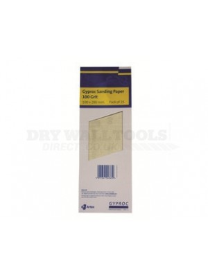 Gyproc 100 grit sandpaper 100mm x 280mm 25 sheets