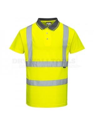 Portwest Hi-Vis Short Sleeve Polo Yellow XXXL - S477
