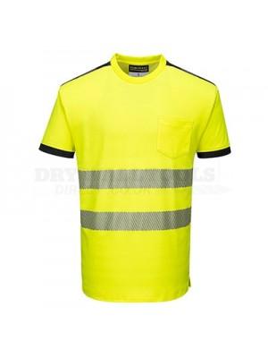 Portwest PW3 Hi-Vis T-Shirt S/S Yellow/Black XXXL - T181