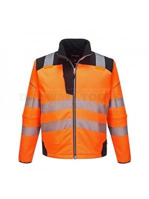 Portwest PW3 Hi-Vis Softshell Jacket Orange/Black XXXL - T402