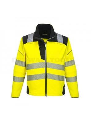 Portwest PW3 Hi-Vis Softshell Jacket Yellow/Black XXXL - T402
