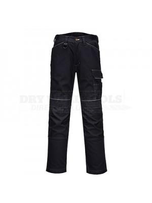 "Portwest PW3 Work Trousers Black 40"" Regular - T601"