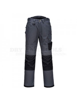 "Portwest PW3 Work Trousers Zoom Grey/Black 42"" Regular - T601"