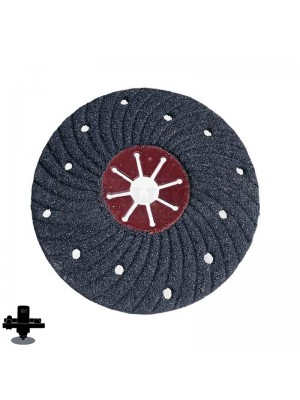 "Refina EPO180H 120 Grit 7"" S/C Semi-Flex Disc, For Concrete & Masonry Sanding - 300607P120"
