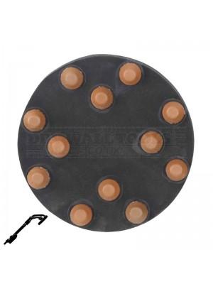 "Refina 100 Grit 9"" Diamond Button Disc, Velcro, For Terrazzo & Stone Polishing - 341085P4"