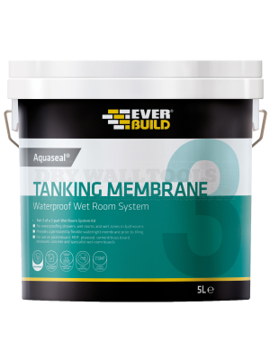 Everbuild Aquaseal Waterproof Tanking Membrane Blue 5 Litre - AQWRSMEM5