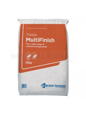British Gypsum Thistle MultiFinish Plaster 25kg (1/4 Pallet - 14 Bags) - 06058/8