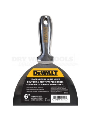 "DeWalt Stainless Steel One-Piece Drywall Joint Knife 6"" DXTT-2-406"