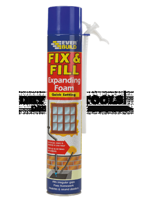 Everbuild Fix & Fill Expanding Foam 750ml - EVFF7