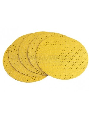 Arrow Yellow Perforated Sanding Discs 100 Grit 225mm (Pack of 25)