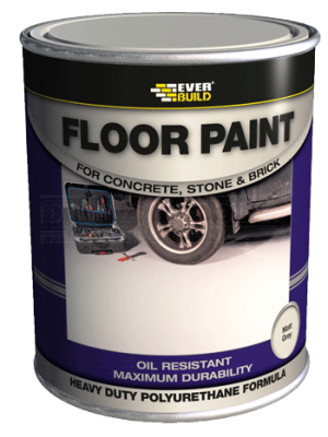 Everbuild Floor Paint Matt Red 5 Litre - FLOORRDNEW