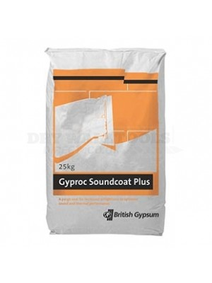 Full Pallet (56 Bags) British  Gypsum Gyproc Sound Coat Plus Plaster (25kg Bag)