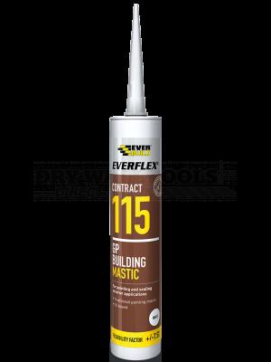 Everbuild Everflex 115 GP Building Mastic White 285ml - MASWE