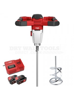 Flex 2-speed cordless mixer with 3-level speed switch 18.0 V (MXE 18.0-EC/5.0 Set + WR2 120 )