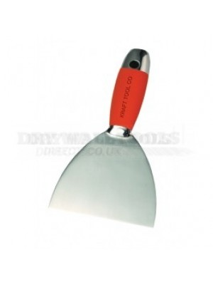 "Kraft Tool Stainless Steel Taping Knife with Sure Grip Handle 1.5"" DW727PF"