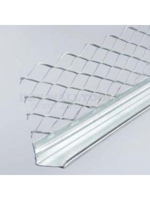 Arrow Galvanized Mesh 13mm Plaster Stop Bead 2.4 Meter  - (Box Qty 50)