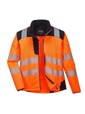 Portwest PW3 Hi-Vis Softshell Jacket Orange/Black (Large) - (T402)
