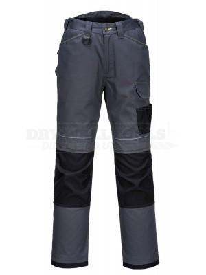 "Portwest PW3 Urban Work Trousers Grey/Black (Size 36"") - (T601)"
